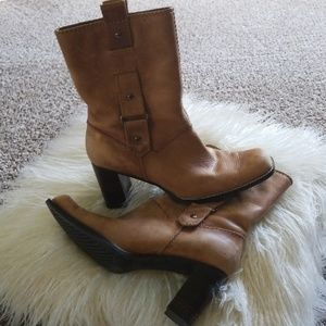 Tan Leather Boots.  Size 7